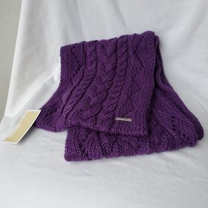 Michael Kors Pointelle Cable Knit Infinity Scarf